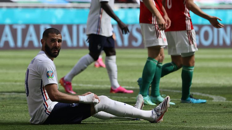 Face à la Hongrie, Karim Benzema a encore tenté mais le filet n'a toujours pas tremblé. (BERNADETT SZABO / POOL)