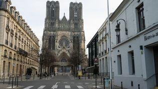 La cathédrale de Reims (Marne), le 6 décembre 2020. (SANDRINE MARTY / HANS LUCAS / AFP)