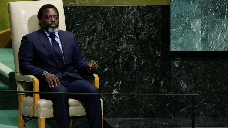 Le président de la RDC, Joseph Kabila Kabange, à New York le 23 septembre 2017. (REUTERS/Eduardo Munoz)