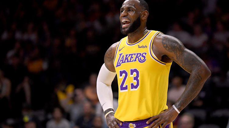 LeBron James, basketteur de l'équipe des Lakers à Los Angeles (Californie). (HARRY HOW / GETTY IMAGES NORTH AMERICA)