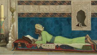 Osman Hamdi Bey, Jeune Emir à l'étude, Istanbul, 1878, huile sur toile  (Louvre Abu Dhabi / Agence photo F)