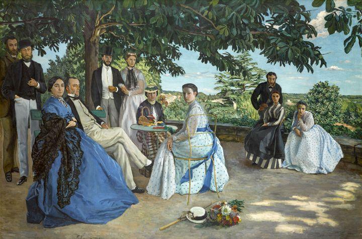 """Frédéric Bazille, """"La Réunion de famille"""", 1867, Paris, musée d'Orsay - service de presse Musée d'Orsay  ( Photo musée d'Orsay, Dist. RMN-Grand Palais / Patrice Schmidt)"""