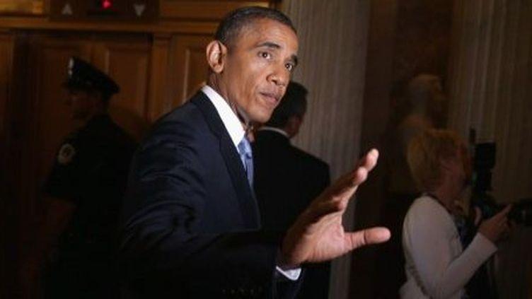 Le président Obama au Capitole après une rencontre avec des élus républicains, le 10 septembre 2013. (ALEX WONG / DPA / DPA PICTURE-ALLIANCE/AFP)