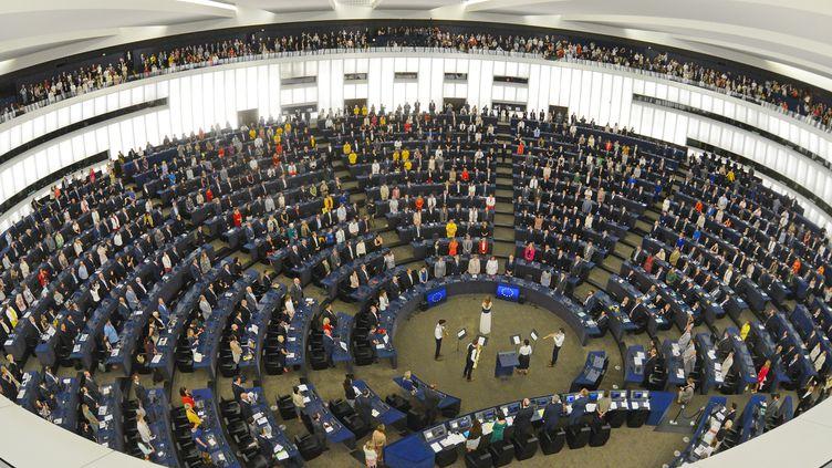 Le Parlement européen, le 2 juillet 2019 à Strasbourg (Bas-Rhin). (ALEXEY VITVITSKY / SPUTNIK / AFP)
