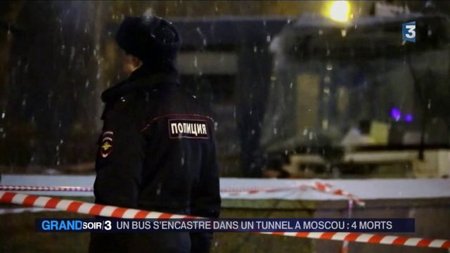 Russie : Accident spectaculaire à Moscou