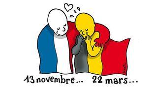 Hommage de Plantu aux victimes des attentats de Bruxelles  (Plantu / Le Monde)