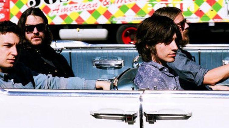 Arctic Monkeys, Alex Turner à droite au premier plan.  (Domino Records)