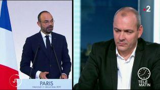 Le président de la CFDT Laurent Bergerest hostile à l'instauration progressive d'un âge d'équilibre de départ àla retraite à 64 ans. (FRANCE 2)