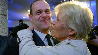Steeve Briois, secrétaire général du FN, àHénin-Beaumont (Pas-de-Calais), le 23 mars 2014, au soir de sa victoire dès le premier tour aux municipales. (DENIS CHARLET / AFP)
