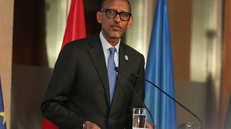 Le président rwandais Paul Kagame. Le Rwanda a une économie en plein essor qui est contrôlée par un régime autoritaire. (CHRISTIAN MARQUARDT/EPA-EFE)