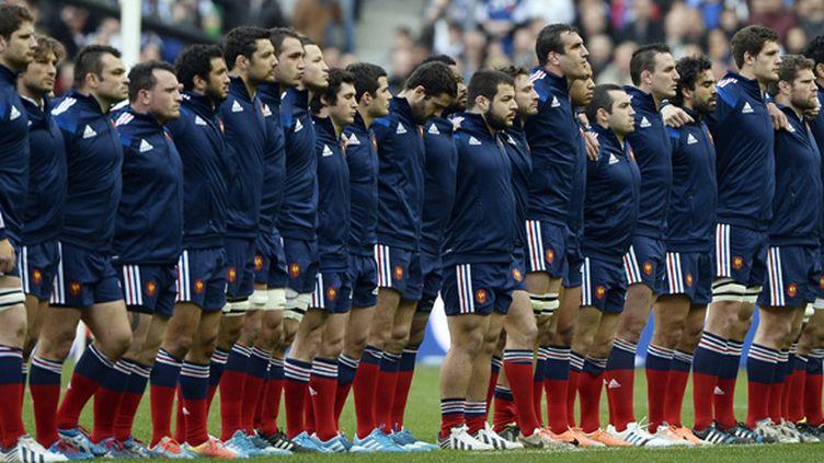 Le XV de France qui a perdu face à l'Irlande le samedi 15 mars au Stade de France (FRANCK FIFE / AFP)