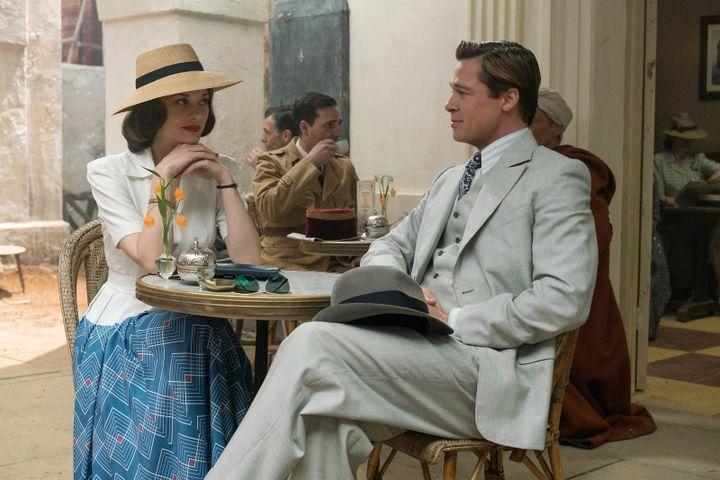 """Marion Cotillard et Brad Pitt dans """"Alliés"""" de Robert Zemekis  (Paramount Pictures France)"""