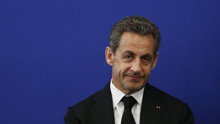 L'ancien président de la République, Nicolas Sarkozy, le 20 septembre 2014 à Nice (Alpes-Maritimes). (VALERY HACHE / AFP)