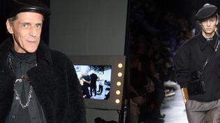 A gauche Judy Blame, Londres, novembre 2016 et à droite, défilé Dior homme automne-hiver 2020-2021 (Richard Young/Shutterst/SIPA et YANNIS VLAMOS)