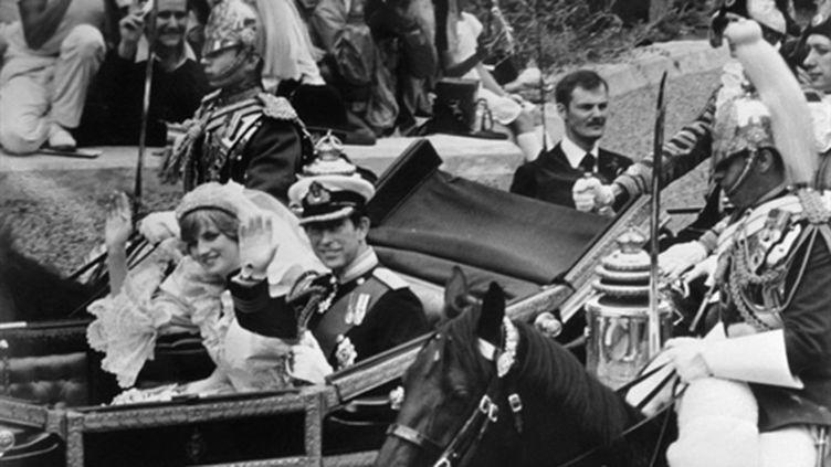 Le carrosse utilisé par Diana et Charles en 1981 après leur mariage (AFP)