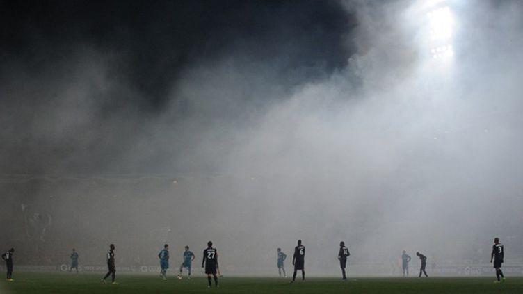 Le Stade Chaban-Delmas dans le chaos (NICOLAS TUCAT / AFP)