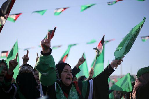 Manifestation du Hamas, le 11 décembre 2016, pour le 29e anniversaire du mouvement islamiste. ( REUTERS - Ibraheem Abu Mustafa)