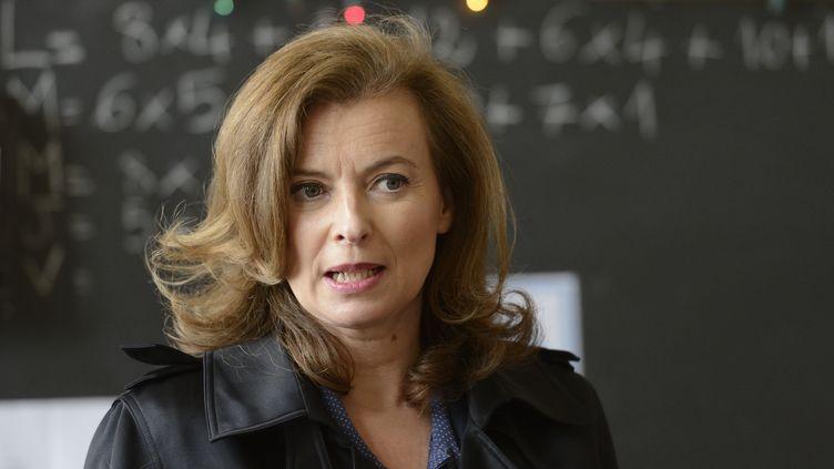 Valérie Trierweiler visite l'Ecole française de Chicago (Illinois), le 21 mai 2012. (ERIC FEFERBERG / POOL)