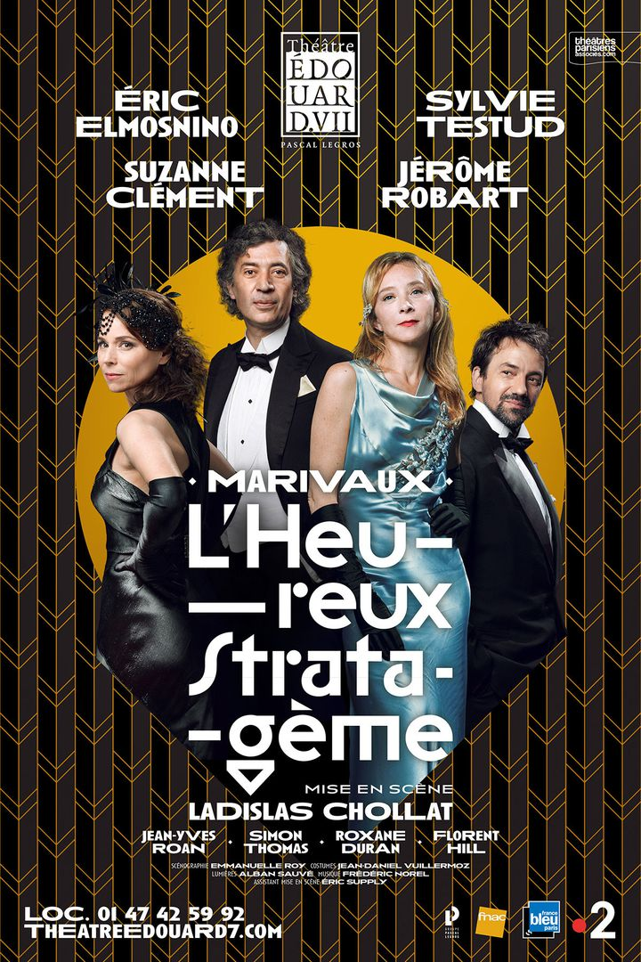 """Affiche de """"L'Heureux stratagème"""" (Théâtre Edouard VII)"""
