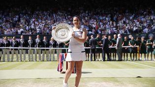 Marion Bartoli, lors de sa victoire à Wimbledon (Royaume-Uni), le 6 juillet 2013. (MAXPPP)