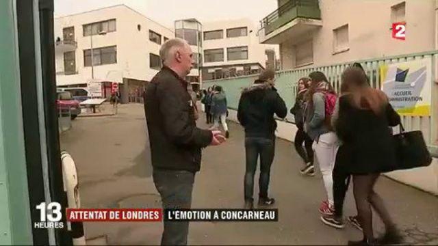 Attaque de Londres : émotion à Concarneau