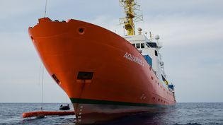 "Le navire ""Aquarius"", géré par l'association SOS Mediterranée. (MAUD VEITH / SOS MEDITERRANEE)"