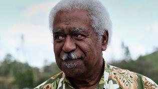 Roch Wamytan, leader du parti indépendantiste Union Calédonienne, ici le 30 octobre 2018 à Nouméa. (THEO ROUBY / AFP)