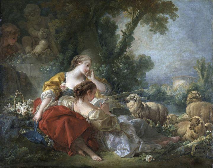 François Boucher (1703-1770), l'Ecole de l'amitié, Karlsruhe, Staatliche Kunsthalle  (Staatliche Kunsthalle Karlsruhe)