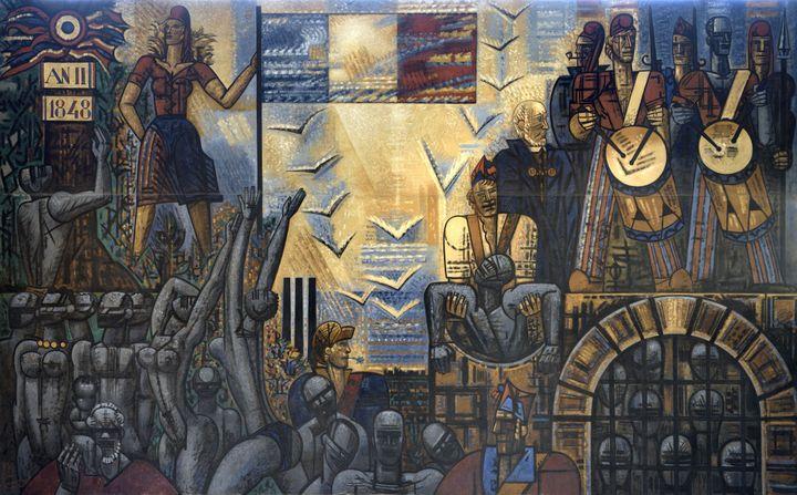 Marcel Gromaire, L'Abolition de l'esclavage, 1950. (Dépôt du CNAP en 1991 au musée de Roubaix)
