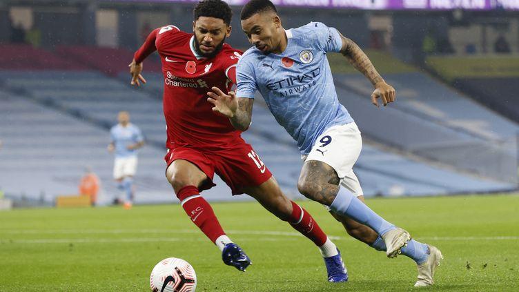Gabriel Jesus s'est joué de la défense de Liverpool pour égaliser (CLIVE BRUNSKILL / POOL)