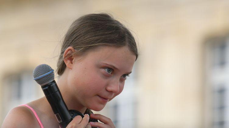 L'activiste suédoise Greta Thunberg, le 21 juillet 2019 à Caen (Calvados). (ARTUR WIDAK / NURPHOTO / AFP)