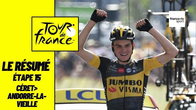 Sepp Kuss s'est imposé lors de la 15e étape du Tour de France entre Céret et Andorre-la-Vieille, longue de 191,3 kilomètres et synonyme d'entrée dans la haute montagne au cœur des Pyrénées. L'Américain a réussi à lâcher ses compagnons d'échappée dans le col de Beixalis, dernière difficulté du jour. Alejandro Valverde et Wouter Poels complètent le podium. Au général, Guillaume Martin a perdu sa deuxième place et redescend en 9e position.
