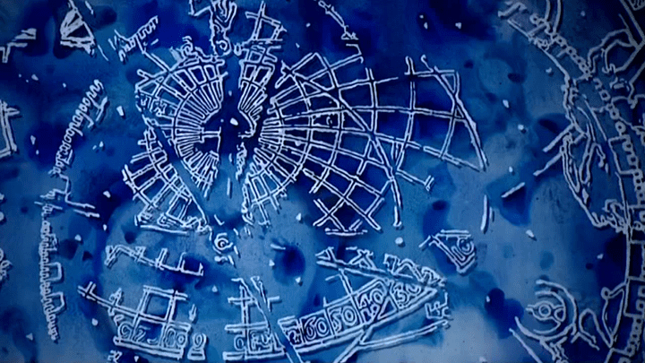 Miroir de l'horloge astronomique  (Culturebox/France3)