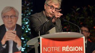 Jean-Pierre Masseret, tête de liste PS dans la région Alsace-Champagne-Ardenne-Lorraine, tient un meeting le 3 décembre 2015 à Strasbourg. (PATRICK HERTZOG / AFP)