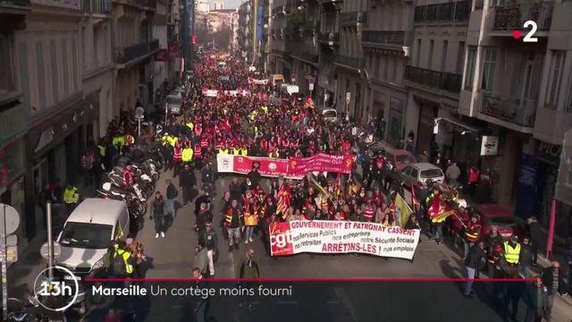 Réforme des retraites : une mobilisation moins suivie à Marseille