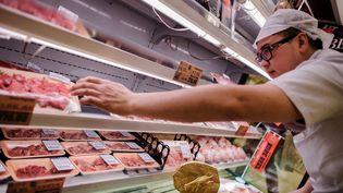 Le boeuf français va pouvoir rejoindre la viande ici japonaise, à Hong Kong en 2012. (AFP)