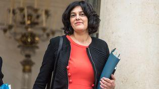 La ministre du Travail, Myriam El Khomri, quitte le palais de l'Elysée, le9 mars 2016. (YANN KORBI / CITIZENSIDE / AFP)