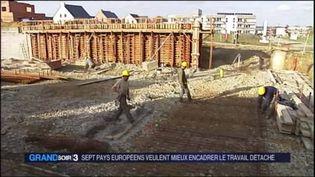 Des travailleurs dans le BTP (FRANCE 3)