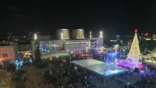 Le nombre de pèlerins était en hausse lundi 24 décembre lors de la messe de la nativité à Bethléem (Cisjordanie). (FRANCE 2)