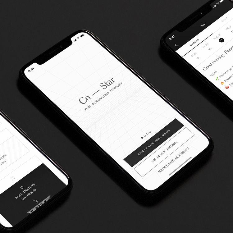 Après un lancement sur l'App Store d'Apple en 2017, l'application d'astrologie Co-Star est disponible au téléchargement sur Android depuis le 17 janvier 2020. (CO-STAR)