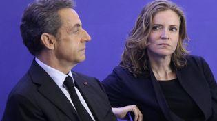 Nicolas Sarkozy et Nathalie Kosciusko-Morizet, le 10 octobre 2015 à Paris. (MAXPPP)