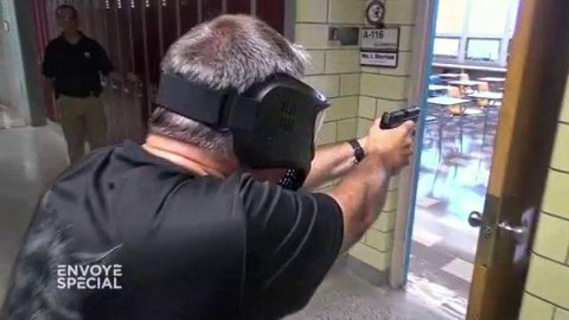 Cette fusillade dans un collège américain est un exercice d'entraînement pour les profs