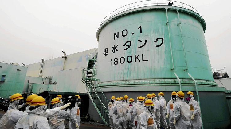 Une chambre de condensation à la centrale nucléaire deFukushima (Japon), le 11 juin 2013. (YOMIURI / AFP)