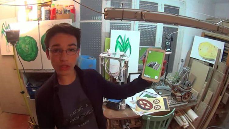 (Ce collégien de Meurthe-et-Moselle est finaliste du Google Science Fair © Capture écran Youtube)