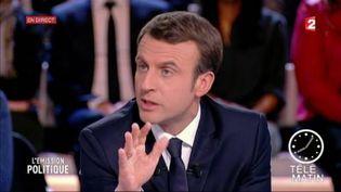 """Emmanuel Mcron était l'invité de """"L'Emission politique"""" sur France 2. (FRANCE 2)"""