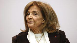 """Gisèle Halimi en 2008 au colloque de l'association qu'elle a créée : """"Choisir la cause des femmes"""". (THOMAS PADILLA / MAXPPP)"""