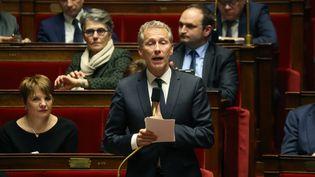 Le député de Mayenne, Guillaume Garot, à l'origine de la loi sur le gaspillage alimentaire de 2016, le 14 novembre 2020. (LUDOVIC MARIN / AFP)