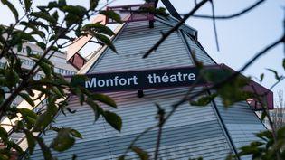 Le théâtre Montfort à Paris (19 novembre 2020) (RICCARDO MILANI / HANS LUCAS / VIA AFP)