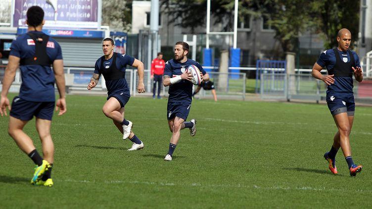 Entraînement du club de rugby de Grenoble, le FCG. (JEAN BENOIT VIGNY / MAXPPP)
