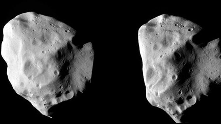 Différentes images de l'astéroïde Lutetia prises par la sonde Rosetta. (AFP PHOTO/HO/ESA)